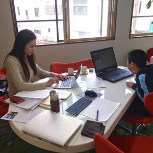 上野さんの更新サポートと臨時プログラミング体験教室