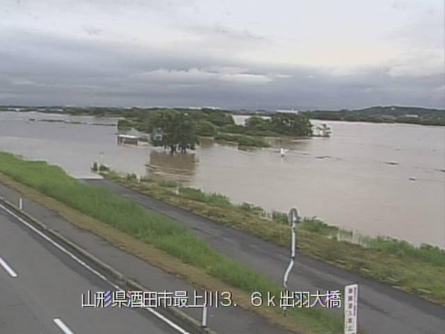 山形県酒田市の最上川河口でも水害の危険が…