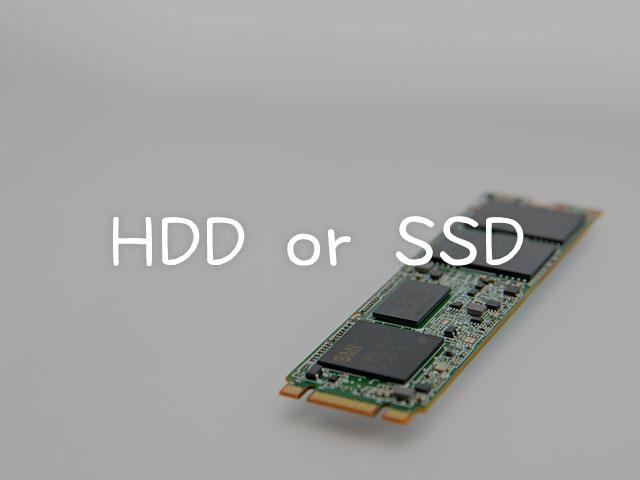 HDDじゃなくてSSDのPCを買ってください!