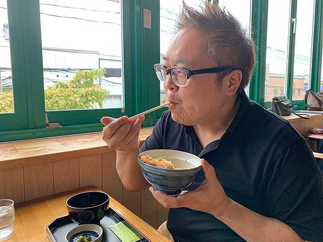 鶴岡の池田さんにある蝶やさんのカツ丼はうまい